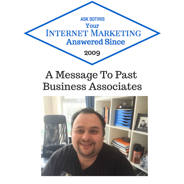 A Message To Past Business Associates