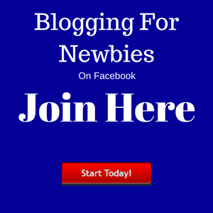Blogging For Newbies Fb Group Banner
