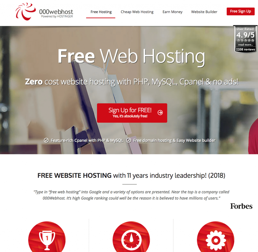 000 Free Webhosting Review