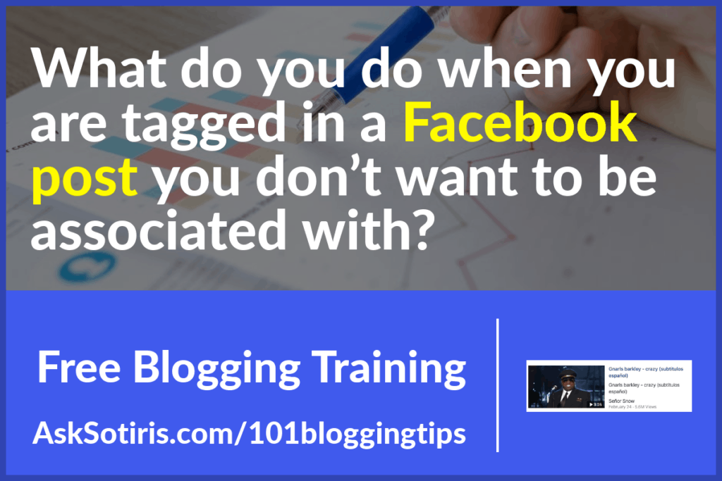What do you do when you are tagged in a Facebook post you don't want to be associated with?