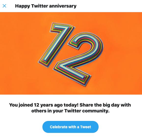 12 Year Twitter Anniversary
